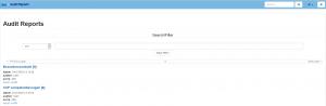 iMIS Audit intranet report zoekfunctie
