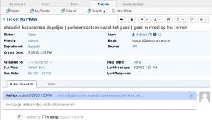 iMIS Audit intranet report afhandeling notities