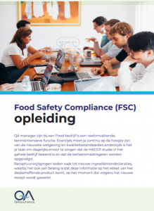 Food Safety Compliance opleiding brochure