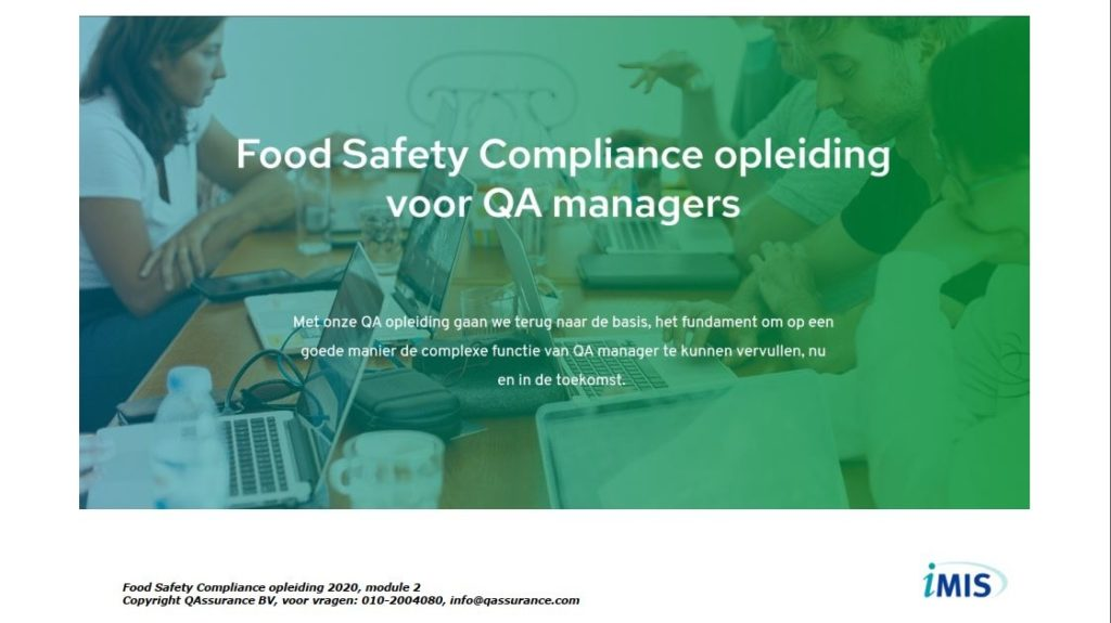 Food Safety Compliance opleiding presentatie dag 2
