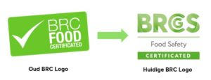 Old versus new BRC Food logo