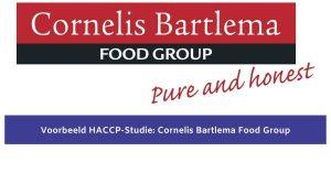 Voorbeeld studie HACCP