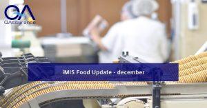 iMIS Food update december