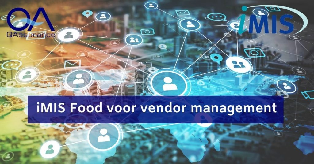 iMIS food for vendor management