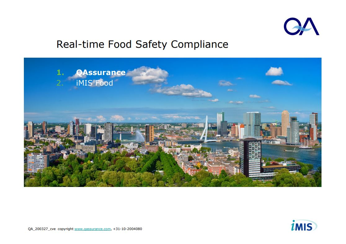 Real Time Food Safety QAssurance Presentatie