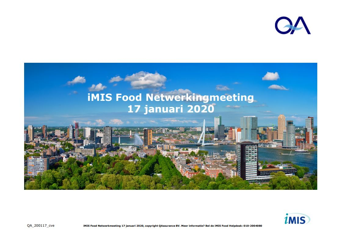 iMIS Food Netwerk Meeting