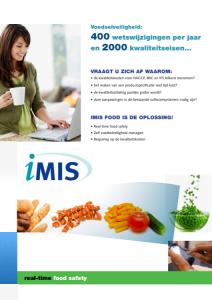 iMIS Food Brochure